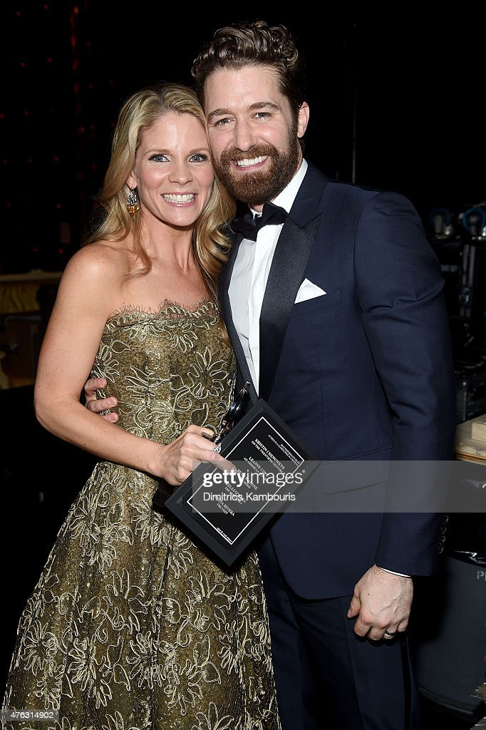 Kelli O'Hara (L) and Matthew Morrison attend the 2015 Tony Awards at Radio City Music Hall on June 7, 2015 in New York City.