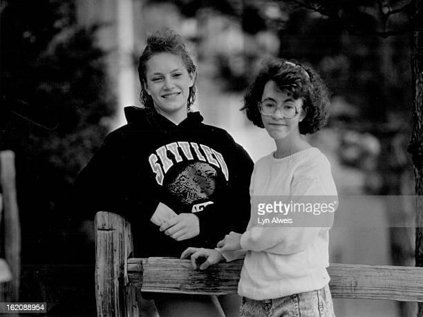 Kelli VanBuskirk, 17 left - Mellissa Goodman, 16 in glosier at right.;