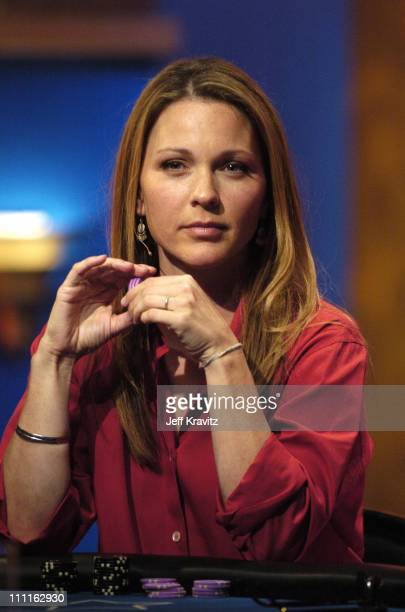 Kelli Williams during Celebrity Blackjack Matt Vasgersian hosts Celebrity Blackjack a one hour weekly tournament featuring 40 stars competing for a...