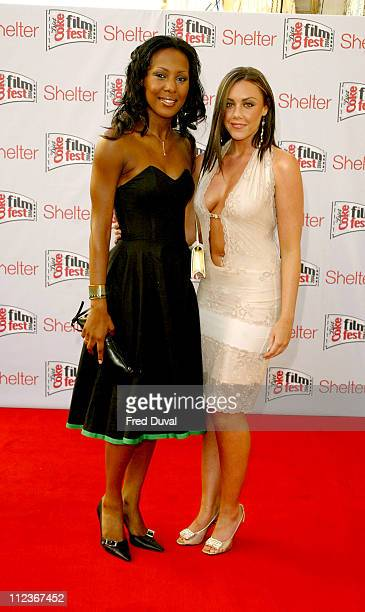 Kelli Young and Michelle Heaton of Liberty X during Diet Coke Film Festival 2004 'Dirty Dancing' Gala Film Premiere at The Electric Cinema in London...