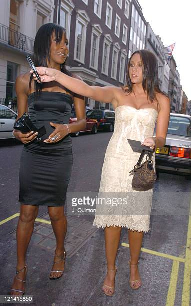 Kelli Young And Michelle Heaton Of Liberty X During Dover Street Restaurant Th Birthday Charity Party