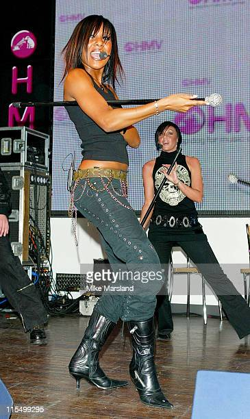 Kelli Young and Michelle Heaton of Liberty X during Liberty X Performs in HMV to Promote New Album 'Being Somebody' London at HMV 150 Oxford Street...