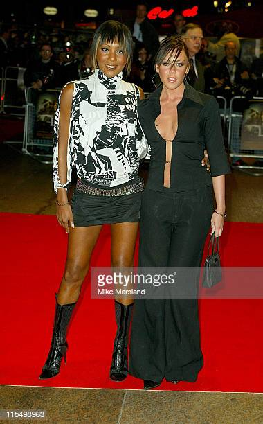 Kelli Young and Michelle Heaton of Liberty X during 'The League Of Extraordinary Gentlemen' Uk Premiere at The Odeon Leicester Square in London...