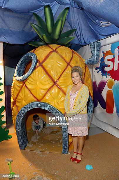 Kellie Bright and her son attend the launch of the new Sky Kids Cafe an imaginative play and themed cafe popup to celebrate the new Sky Kids app at...