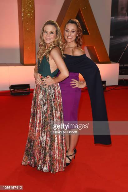 Kellie Bright and Luisa Bradshaw White attend the National Television Awards held at The O2 Arena on January 22 2019 in London England