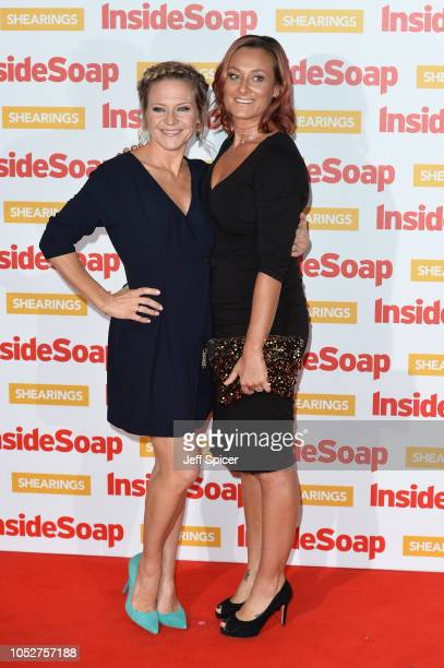 Kellie Bright and Luisa BradshawWhite attend the Inside Soap Awards held at 100 Wardour Street on October 22 2018 in London England