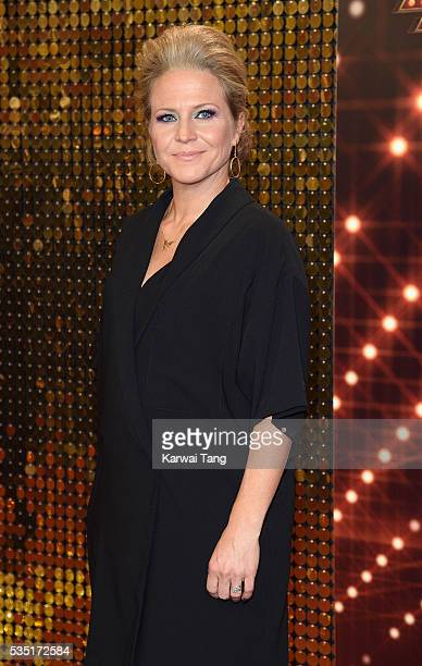 Kellie Bright arrives for the British Soap Awards 2016 at the Hackney Town Hall Assembly Rooms on May 28 2016 in London England