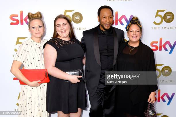 Kellie Bright Clair Norris Roger Griffiths and Lorraine Stanley attend the 2019 'TRIC Awards' held at The Grosvenor House Hotel on March 12 2019 in...