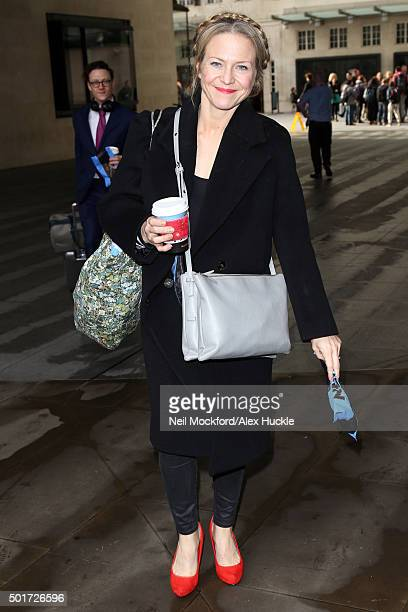 Kellie Bright seen at BBC Studios ahead of this weekends Strictly Come Dancing Final on December 17 2015 in London England