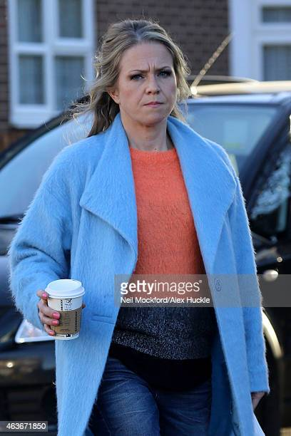 Kellie Bright seen at the Eastenders set in Elstree on February 17 2015 in London England
