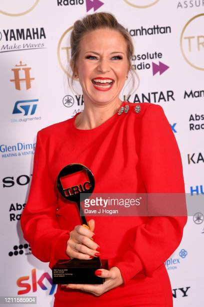 Kellie Bright wins the Soap Actor Award during the TRIC Awards 2020 at The Grosvenor House Hotel on March 10 2020 in London England
