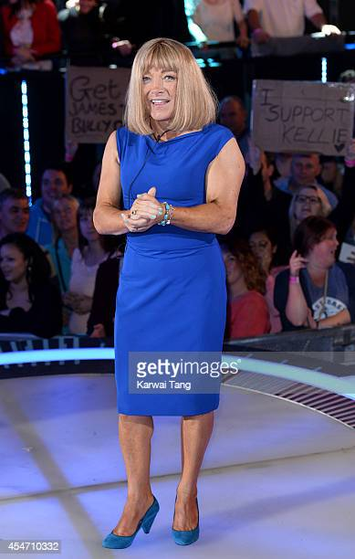 Kellie Maloney is evicted from the Celebrity Big Brother house at Elstree Studios on September 5 2014 in Borehamwood England