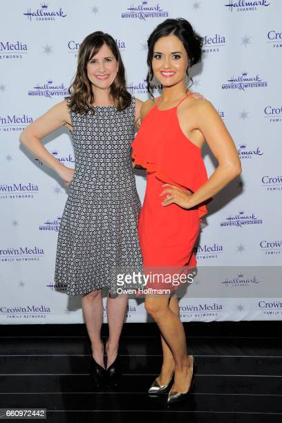 Kellie Martin and Danica McKellar at Crown Media's Upfront Event at Rainbow Room on March 29, 2017 in New York City.