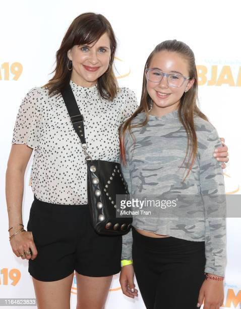 Kellie Martin and daughter Margaret Heather Christian attend the Lupus LA presents 3rd Annual MBJAM19 held at Dave Busters on July 27 2019 in...
