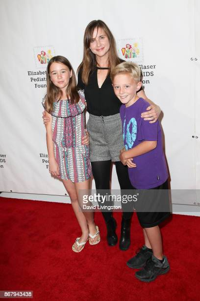 Kellie Martin and family attend the Elizabeth Glaser Pediatric AIDS Foundation's 28th Annual A Time For Heroes Family Festival at Smashbox Studios on...