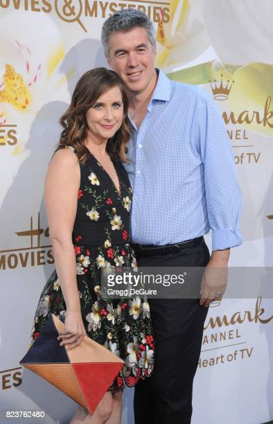 Kellie Martin and husband Keith Christian arrive at the 2017 Summer TCA Tour Hallmark Channel And Hallmark Movies And Mysteries at a private...