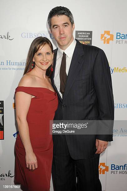 Kellie Martin and husband Keith Christian arrive at the inaugural American Humane Association Hero Dog Awards at the Beverly Hilton Hotel on October...