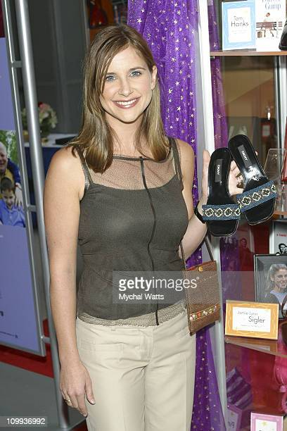 Kellie Martin during Celebrity Shoes for Orphans ends tour in New York at Queens Center Mall in New York City New York United States