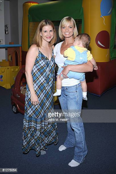Kellie Martin, Jamie Presley and Dezi James attend the Playroom's first anniversary benefiting Friends of the Family hosted by Melissa Joan Hart on...