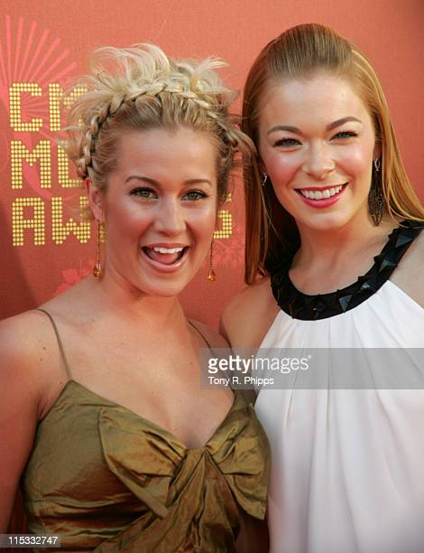 Kellie Pickler and LeAnn Rimes during 2007 CMT Music Awards - Arrivals at The Curb Event Center at Belmont University in Nashville, Tennessee, United...