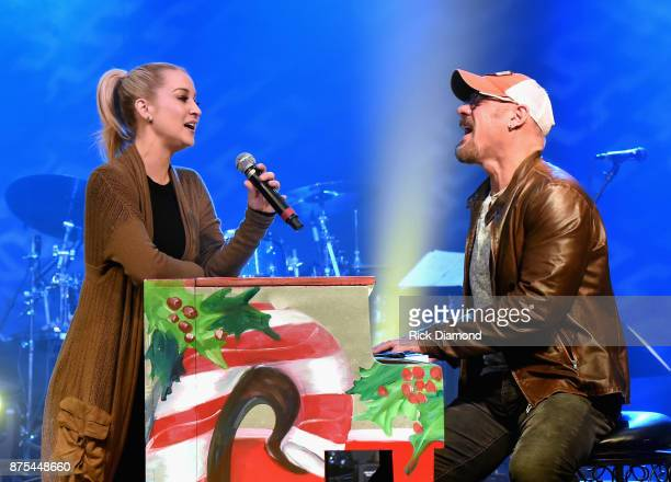 Kellie Pickler and Phil Vassar's 'The Naughty List' and a Christmas Tour rehearsal at soundcheck on November 14 2017 in Nashville Tennessee