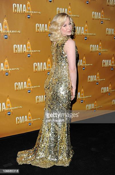Kellie Pickler attends the 44th Annual CMA Awards at the Bridgestone Arena on November 10 2010 in Nashville Tennessee