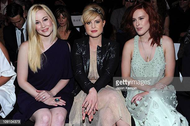 Kellie Pickler Kelly Osbourne and Rumer Willis attend the Badgley Mischka Fall 2011 fashion show during MercedesBenz Fasnion Week at The Theatre at...