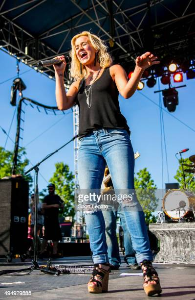 Kellie Pickler performs during the 2014 WYCD Downtown Hoedown at Comerica Park on May 31 2014 in Detroit Michigan