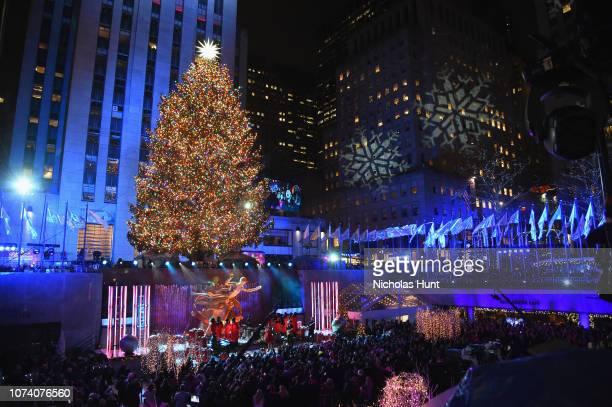 Kellie Pickler performs during the 86th Annual Rockefeller Center Christmas Tree Lighting Ceremony at Rockefeller Center on November 28, 2018 in New...