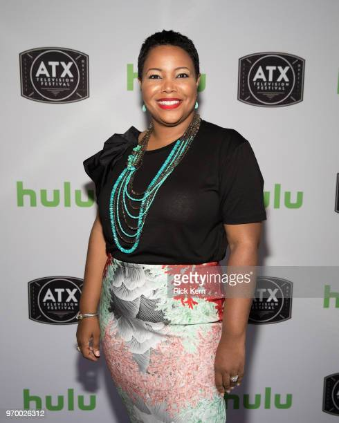 Kellie Shanygne Williams visits the Hulu Badgeholder Lounge during the ATX Television Festival at the InterContinental Stephen F Austin on June 8...