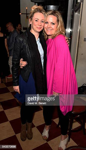 Kellie Shirley and Jo Joyner attend the after party of The Truth at Polpo At The Ape and Bird on June 27 2016 in London England