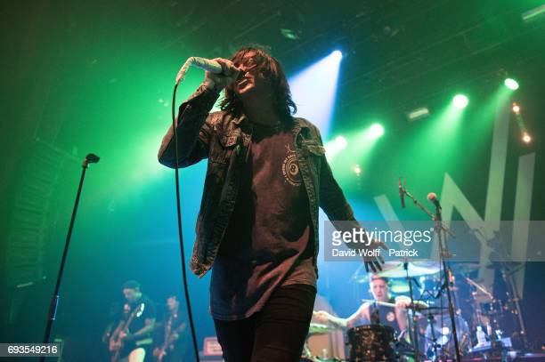 Kellin Quinn Bostwick from Sleeping with Sirens opens for Good Charlotte at Le Bataclan on June 7 2017 in Paris France