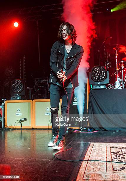 Kellin Quinn of Sleeping with Sirens performs at O2 Academy Birmingham on April 8 2015 in Birmingham United Kingdom