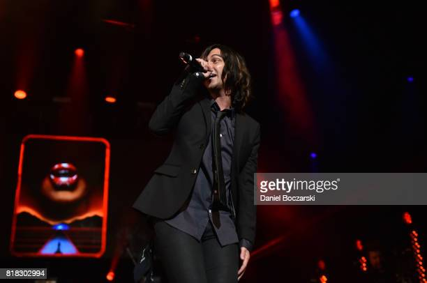 Kellin Quinn of Sleeping With Sirens performs during the 2017 Alternative Press Music Awards at KeyBank State Theatre on July 17 2017 in Cleveland...