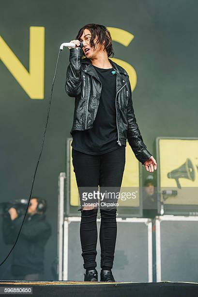 Kellin Quinn of Sleeping with Sirens performs on stage on Day 3 at Reading Festival 2016 on August 28 2016 in Reading England
