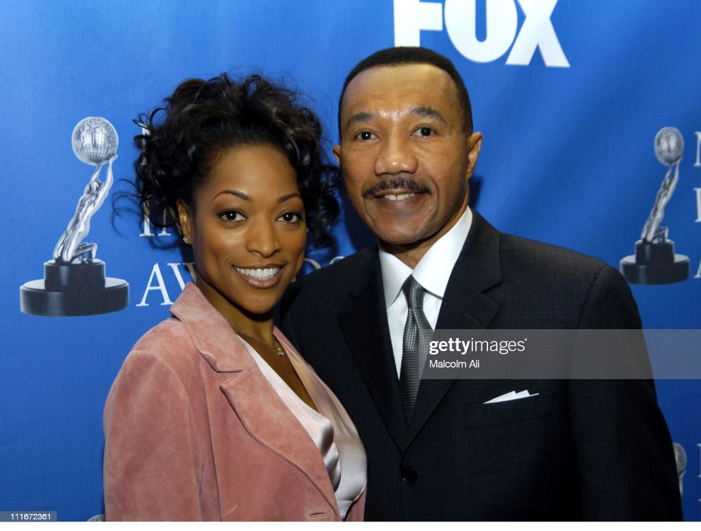 Kellita Smith and Kweisi Mfume during 35th NAACP Image Awards Nominations at The Four Seasons in Los Angeles, California, United States.