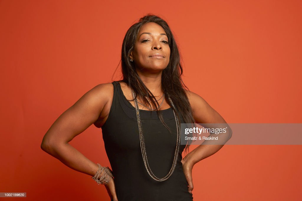 Kellita Smith from SYFY's 'Z Nation' poses for a portrait in the Getty Images Portrait Studio powered by Pizza Hut at San Diego 2018 Comic Con at Andaz San Diego on July 19, 2018 in San Diego, California.