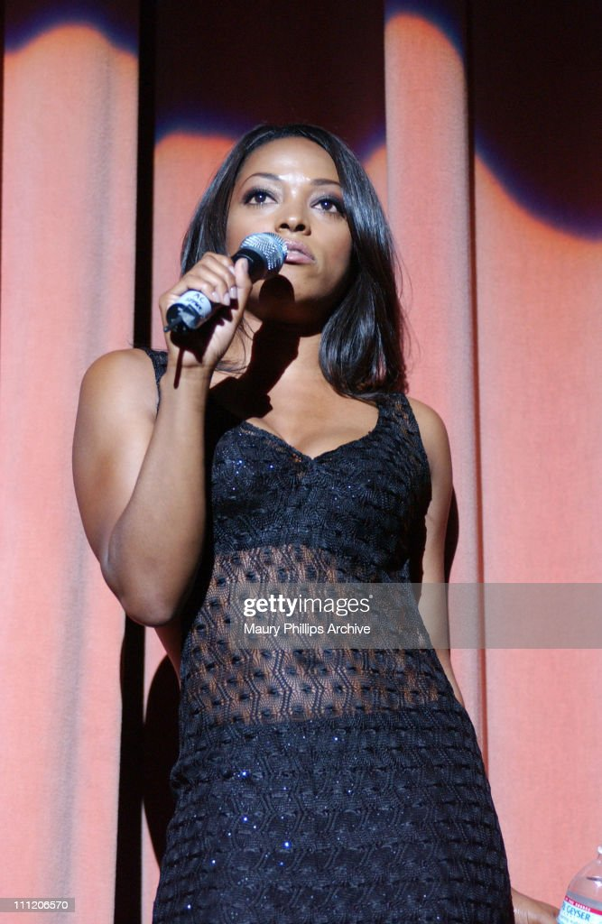 Kellita Smith hosts the O'Jays concert during Black Music Month Concert Featuring 'The Legendary O'Jays' at The Wiltern Theatre in Los Angeles, California, United States.