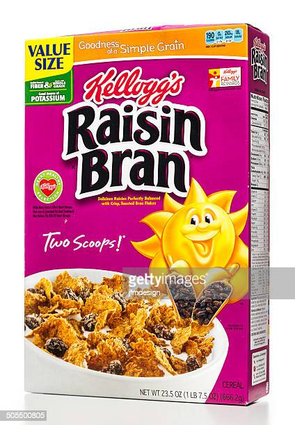 Kellogg's raisin bran cereal box
