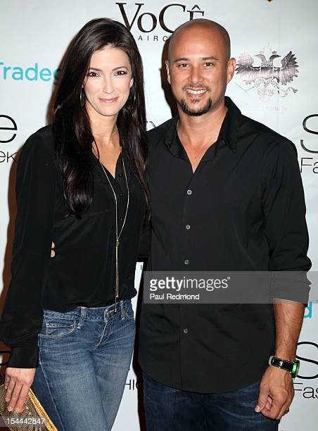 Kelly A Wolfe and actor Cris Judd attends Alexis Monsanto Spring/Summer Collection 2013 Fashion Show at Vibiana on October 19 2012 in Los Angeles...