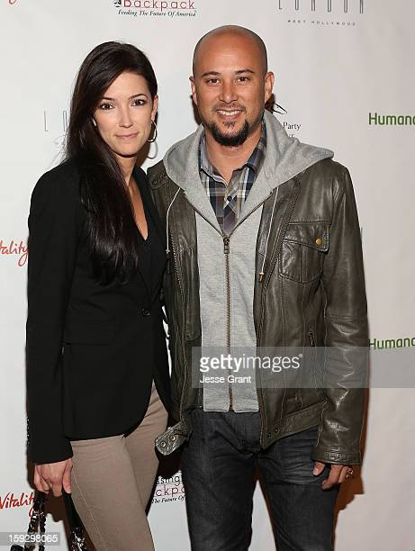 Kelly A Wolfe and Cris Judd attend The 4th Annual Unbridled Eve Derby Prelude Party at The London West Hollywood on January 10 2013 in West Hollywood...
