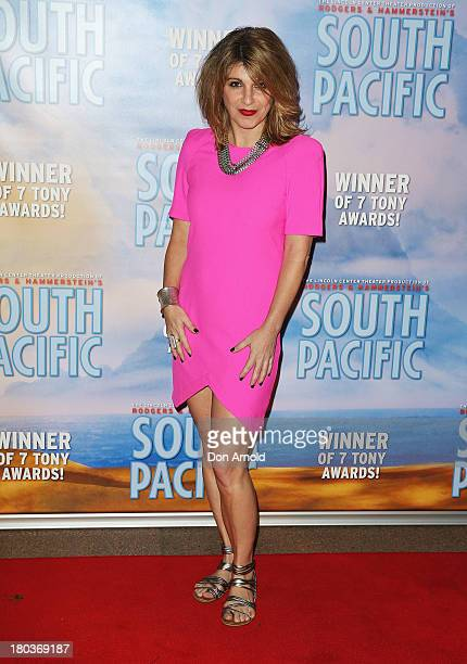 Kelly Abbey arrives at Opera Australia's 'South Pacific' opening night at the Sydney Opera House on September 12 2013 in Sydney Australia