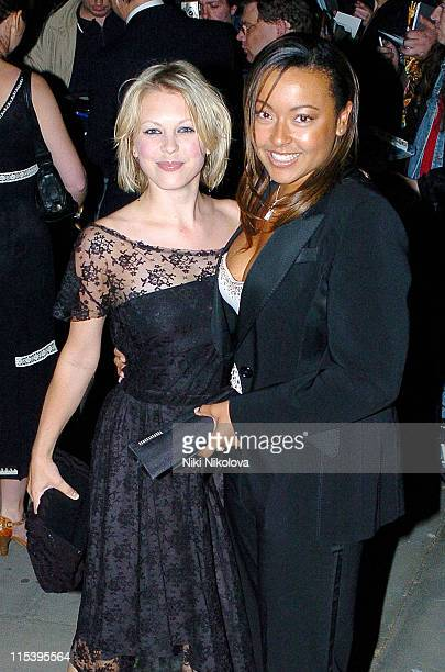 Kelly Adams and Jaye Jacobs during 'Batman Begins' London Premiere After Party at Old Bailey in London Great Britain