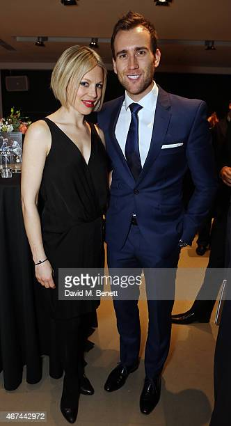 Kelly Adams and Matthew Lewis attend the after party following the press night performance of 'Northern Ballet's The Great Gatsby' at Sadler's Wells...