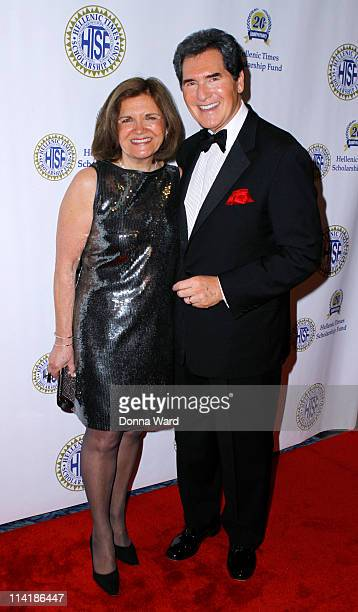 Kelly Anastos and Ernie Anastos attend the 20th Anniversary Hellenic Times Gala at The New York Marriott Marquis on May 14 2011 in New York City