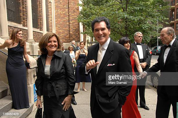 Kelly Anastos and Ernie Anastos attend the wedding of Andrea Catsimatidis and Christopher Nixon Cox at the Greek Orthodox Cathedral Of The Holy...