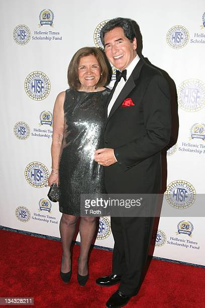 Kelly Anastos and Ernie Anastos attends the 20th Anniversary Hellenic Times Gala at The New York Marriott Marquis on May 14 2011 in New York City