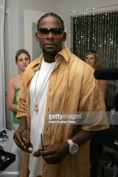 R Kelly at Sunglass Hut during 2005 MTV VMA Sunglass Hut Suite Day 2 at Sagmore Hotel in Miami Florida United States