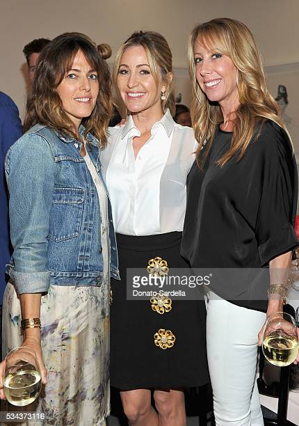 Kelly Atterton Laurie Feltheimer and Eve Gerber attend the launch of EB Florals By Eric Buterbaugh with Saks Fifth Avenue on May 25 2016 in Los...