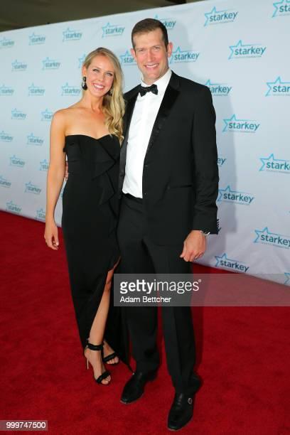 Kelly Backes and David Backes walk the red carpet at the 2018 So the World May Hear Awards Gala benefitting Starkey Hearing Foundation at the Saint...